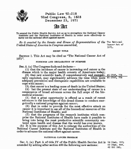 National Cancer Act of 1971