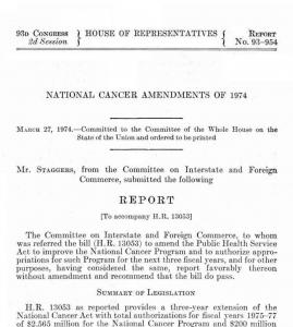 National Cancer Amendments of 1974
