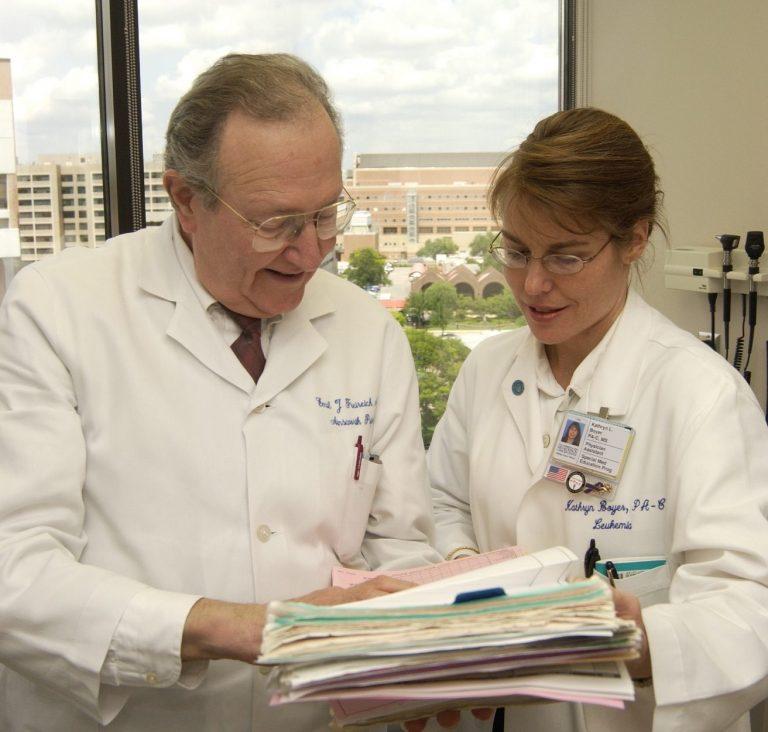 Emil J. Freireich M.D. and Kathryn Boyer, PA-C, MS.