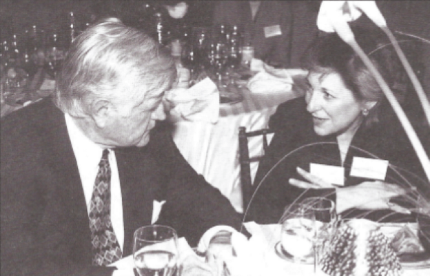 Ellen Stovall with Sen. Edward M. Kennedy (D-MA) about his managed-care bill and national cancer policy.