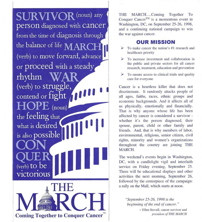A poster for The March