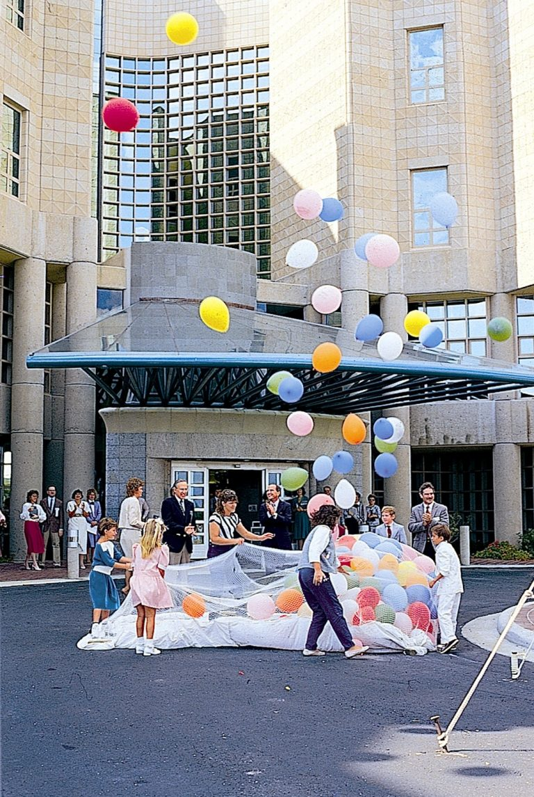Balloons were released to dedicate the opening of Moffitt Cancer Center in October 1986.