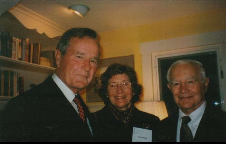 Paul and Celia Calabresi with President George H.W. Bush