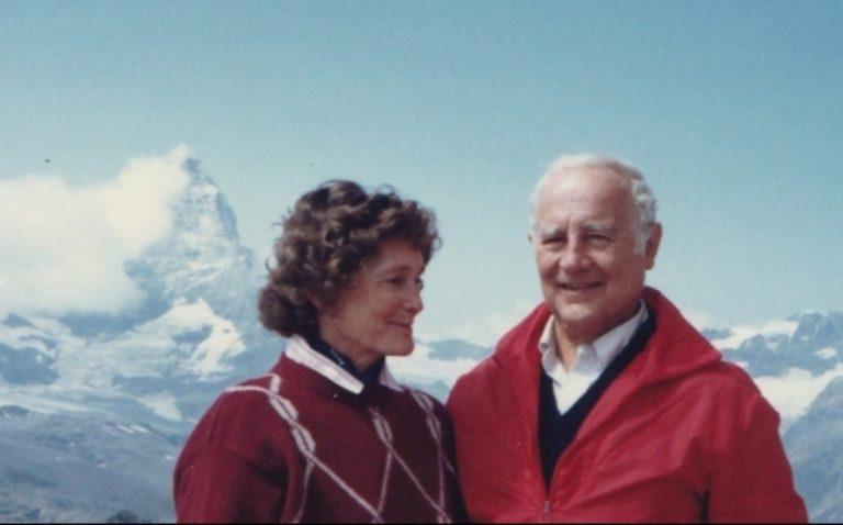 Celia and Paul Calabresi at the Matterhorn