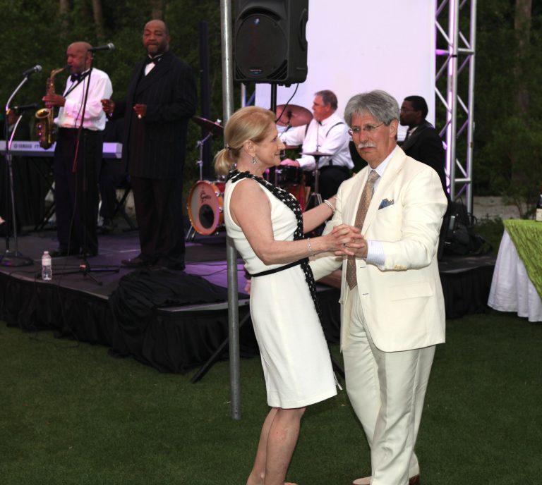 Dr. Stuart and his wife, Charlene Gates Stuart, dance the night away. The BMT program Stuart started at MUSC eventually saved his Gates Stuart's life.
